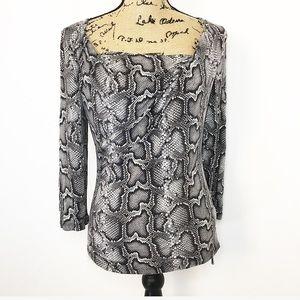 Michael Michael Kors snake print 3/4 sleeve top
